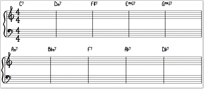 oppgave i spredt harmonisering