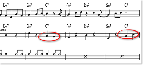 bass-bevegelse i 2-4