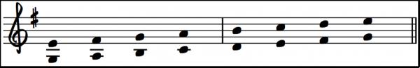 G-dur-E-moll-paralellt