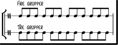 underdelinger - deles på 4 og 3