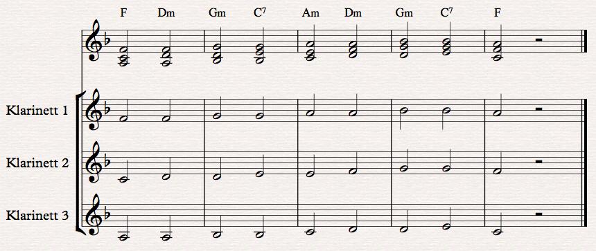 klarinettversjon - lavere